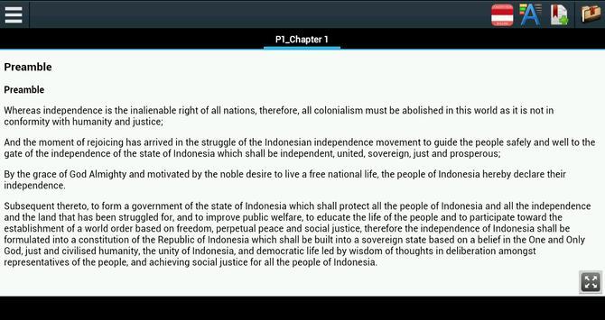 Constitution of Indonesia apk screenshot
