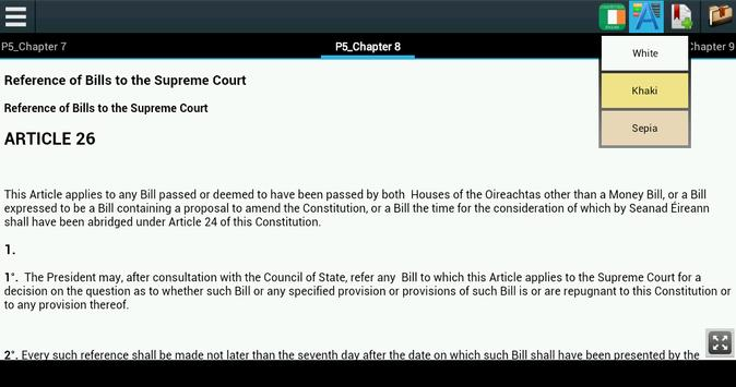 Constitution of Ireland apk screenshot