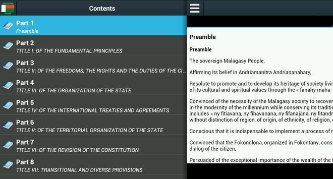 Constitution of Madagascar poster