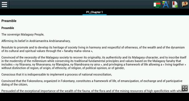 Constitution of Madagascar apk screenshot
