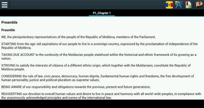 Constitution of Moldova apk screenshot