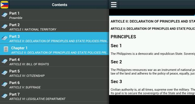 Constitution of Philippines apk screenshot