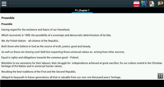 Constitution of Poland apk screenshot