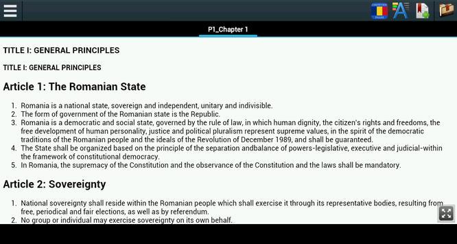 Constitution of Romania poster