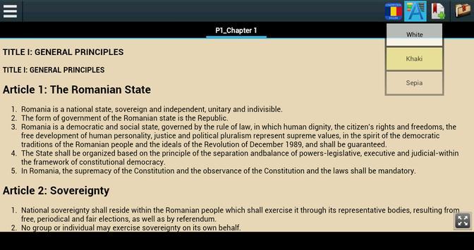 Constitution of Romania apk screenshot