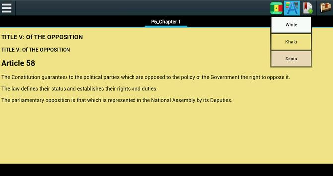 Constitution of Senegal apk screenshot
