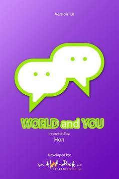 World and You (Filipino) poster