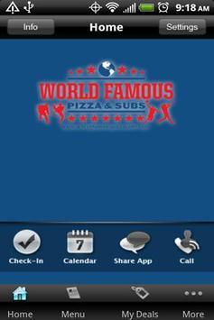 World Famous Pizza & Subs apk screenshot