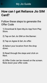 Jio Sim Guide apk screenshot