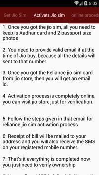 How to Get Free Jio Sim apk screenshot