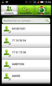 CALLING CARD apk screenshot