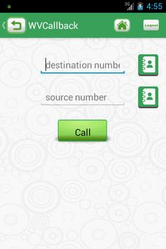 WORLDVOICE CALLBACK apk screenshot