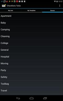 Checklists ToGo apk screenshot