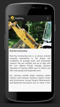 Rob Roy Contracting apk screenshot