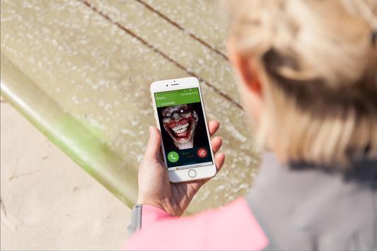 scary clown fake  call joke poster