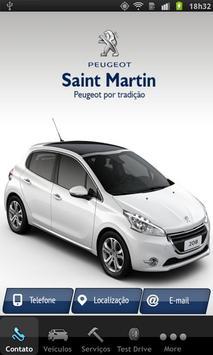 Saint Martin Peugeot poster