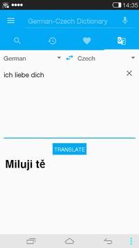 German<->Czech Dictionary apk screenshot