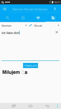 German<->Slovak Dictionary apk screenshot