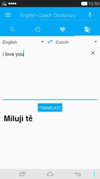 English<->Czech Dictionary apk screenshot