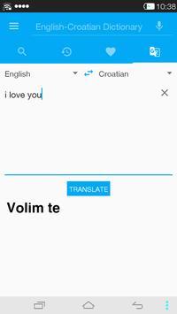 English<->Croatian Dictionary apk screenshot