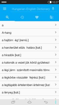 English<->Hungarian Dictionary apk screenshot