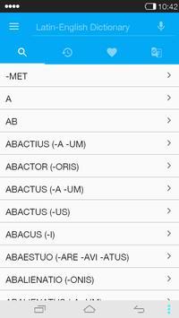 English<->Latin Dictionary apk screenshot