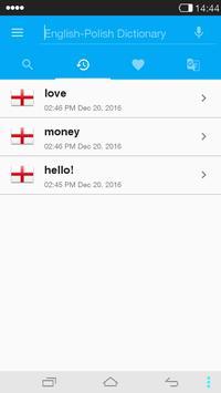 English<->Polish Dictionary apk screenshot