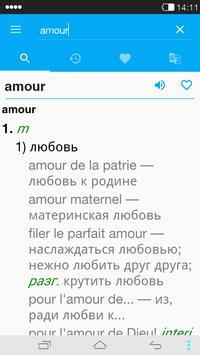 French<->Russian Dictionary apk screenshot