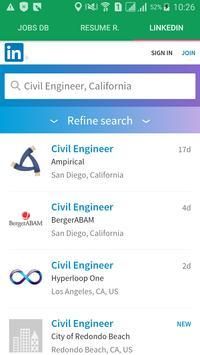 Job search portals apk screenshot
