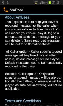 AmBzee (Auto answer calls) apk screenshot