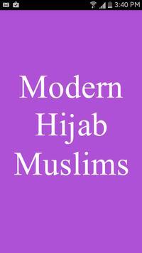 Modern Hijab: Muslims poster