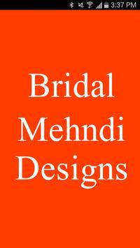 Marital Mehndi Designs poster