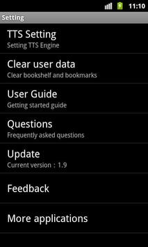 TTS EBook apk screenshot