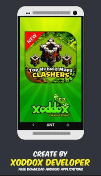 TOP Hybrid Maps Clash Clans poster