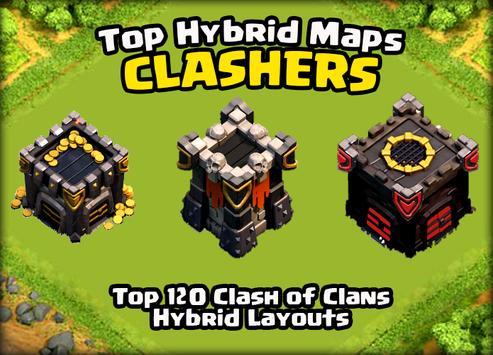 TOP Hybrid Maps Clash Clans apk screenshot