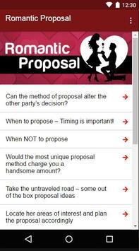 Romantic Proposal apk screenshot