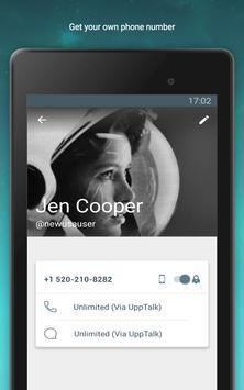 UppTalk WiFi Calling & Texting apk screenshot
