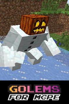 Golems Mod for MCPE poster