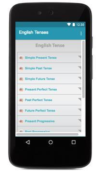 English Tense Table apk screenshot
