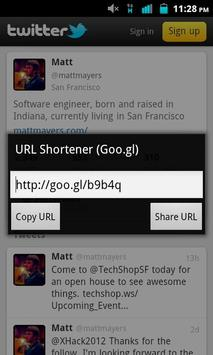 URL Shortener (goo.gl) apk screenshot