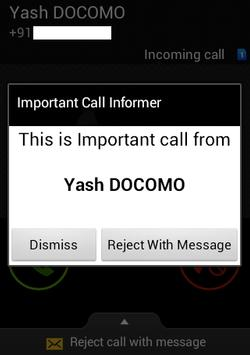 Important Call Informer apk screenshot