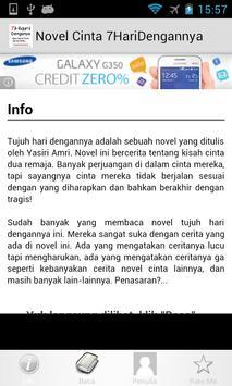 Novel Cinta 7HariDengannya apk screenshot