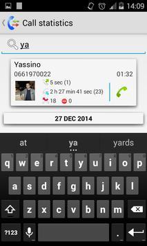 Call / SMS statistics apk screenshot
