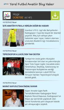 Yerel Futbol Amatör Blog Haber poster