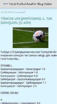 Yerel Futbol Amatör Blog Haber apk screenshot
