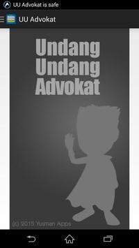 UU Advokat poster