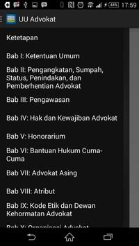 UU Advokat apk screenshot