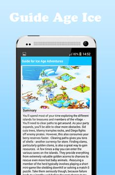 Guide for Ice Age Adventures apk screenshot