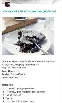 Chocolate Cake Recipes apk screenshot