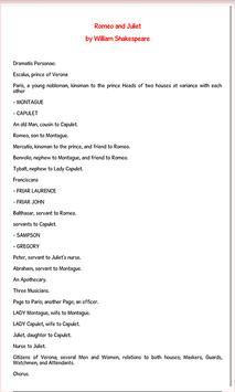 Romeo and Juliet - Ebook apk screenshot
